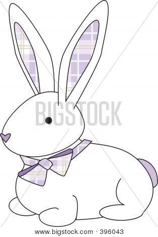 Bunny Purple Plaid