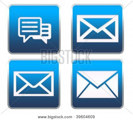 Message or email vector buttons