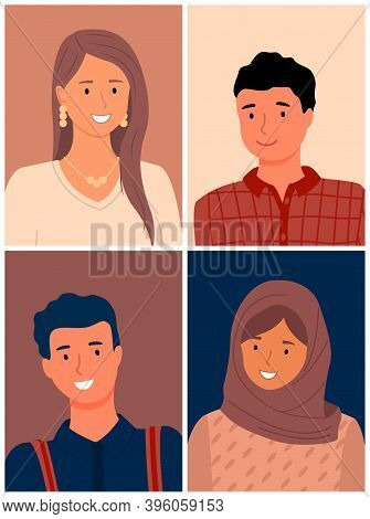 Images Of People Of Different Races. Cultural Differences. International Community. Multi-ethnic Gro