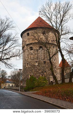 Old fortress tower Kiek in de Kok Tallinn poster