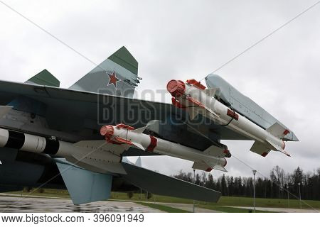 View Of Missiles Supersonic Fighter Flanker-b