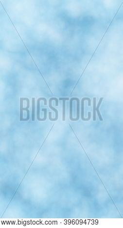 Background Of Abstract White Color Smoke Isolated On Blue Color Background. The Wall Of White Fog. 3