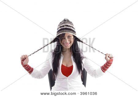 Pretty Girl Stretching Her Cap