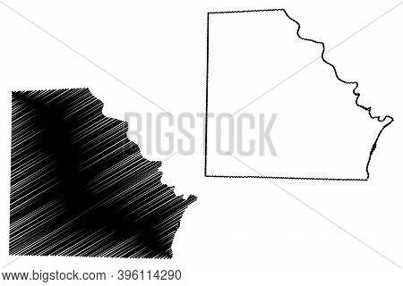 Clark County, Missouri (u.s. County, United States Of America, Usa, U.s., Us) Map Vector Illustratio