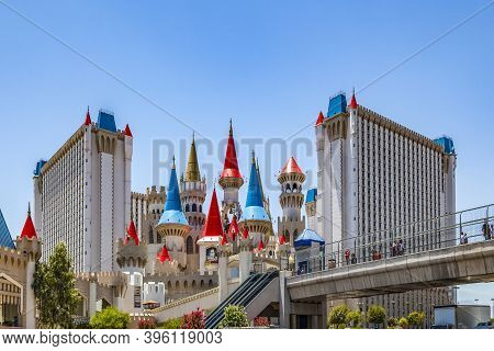 Las Vegas, Usa - June 15, 2012: Excalibur Hotel And Casino  In Las Vegas, Nevada. Its Owner - Mgm Re