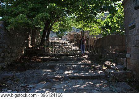 Stari Bar, Montenegro - 07 May 2018: Ancient Ruins Of Stari Bar In Montenegro