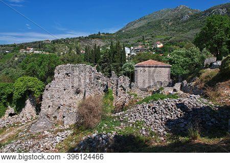 Ancient Ruins Of Stari Bar In Montenegro