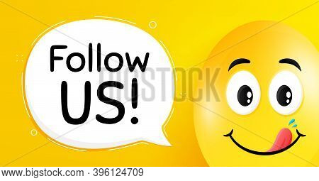Follow Us Symbol. Easter Egg With Yummy Smile Face. Special Offer Sign. Super Offer. Easter Smile Ch
