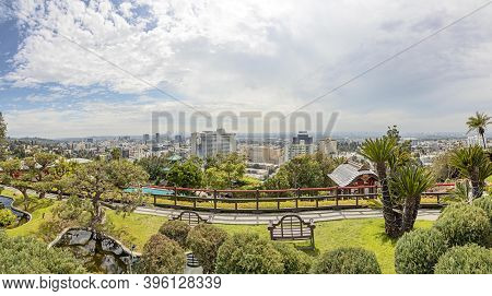 Los Angeles, Usa - Mar 5, 2019: Scenic View From Hollywood Hills To Hollywood Downtown
