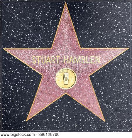 Los Angeles, Usa - Mar 5, 2019: Closeup Of Star On The Hollywood Walk Of Fame For Stuart Hamblen.
