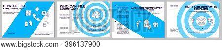 Safety Complaints Filing Brochure Template. Workplace Violence. Flyer, Booklet, Leaflet Print, Cover