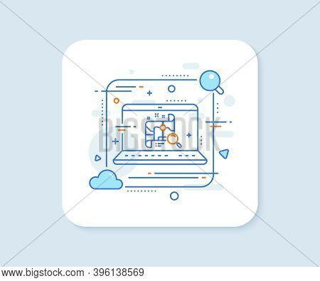 Search Map Line Icon. Abstract Vector Button. Find Location Address Sign. Search Map Line Icon. Lapt