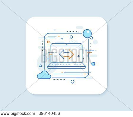 Sync Arrows Line Icon. Abstract Vector Button. Communication Arrowheads Symbol. Navigation Pointer S