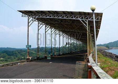 Solar Panels At Banasura Sagar Dam, Wayanad, Kerala, Natural Energy Concept