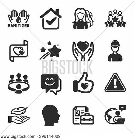 Set Of People Icons, Such As Foreman, Lightweight, Hold Heart Symbols. Love Letter, Women Headhuntin