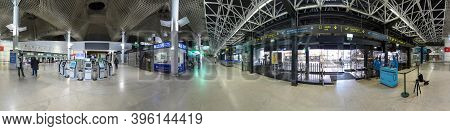 Lisbon, Portugal - May 14, 2020: Due To Corona Most Flights From Lisbon Are Cancelled. Strict Distan