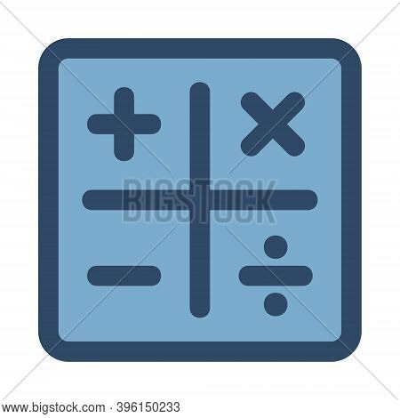 Math Operators Icon. Illustration Of Add, Minus, Multiple, Divide Signs. Educational Calculator, Acc