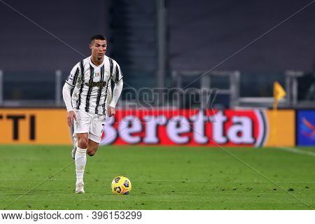 Torino, Italy. 21th November 2020. Cristiano Ronaldo Of Juventus Fc In Action During The Serie A Mat