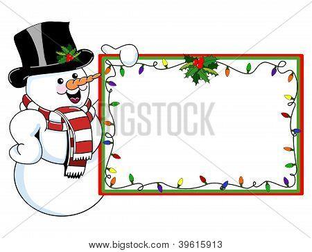 Snowman Christmas Card and Tag
