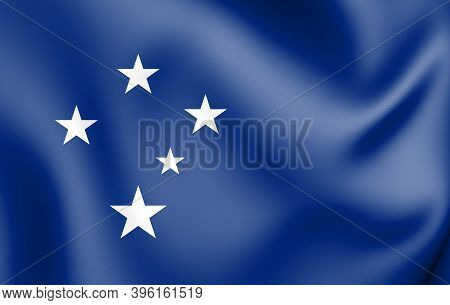 3d Flag Of Cruzeiro Do Sul (acre), Brazil. 3d Illustration.