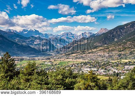 Alpine Landscape Of The French Alps, Risoul In The Provence Alpes, Col D Izoard, France.
