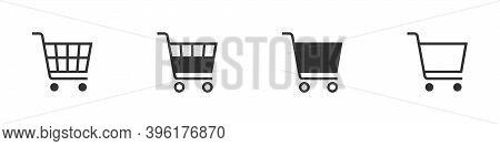 Shopping Cart Icon Concept. Vector Shopping Cart Icon. Shopping Cart Illustration For Web, Mobile Ap
