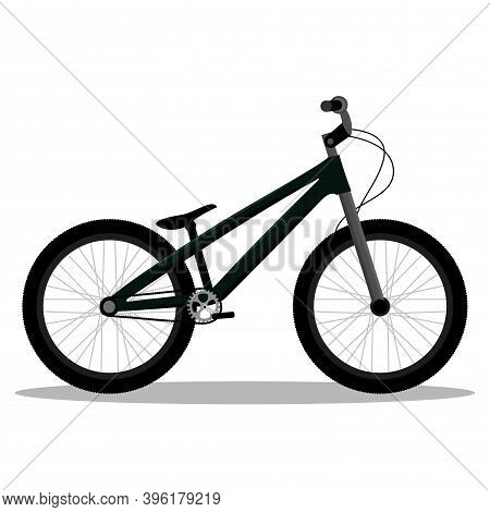 Isolated Bmx Bike In White Background Icon- Vector