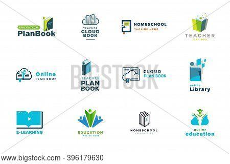 Set Of Logo Design Templates. Vector Illustrations On The Topic Of Medicine, Health, Healthcare, E-d