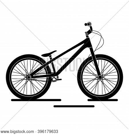 Isolated Bmx Bike Black And White In White Background Icon- Vector