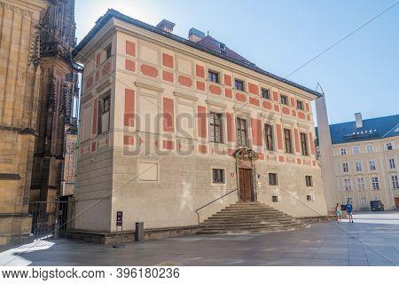 Prague, Czech Republic - July 10, 2020: Metropolitan Chapter Of St. Vitus Cathedral In Prague.
