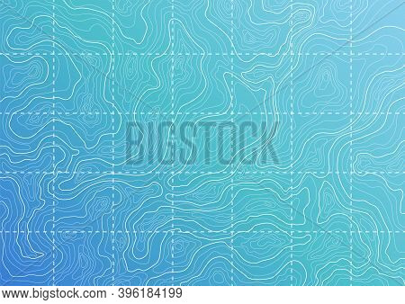 Topographic Map Background Concept. Blue Topographic Background Pattern With Topographic Or Isolines