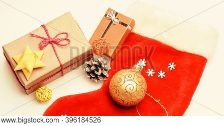 Contents Of Christmas Stocking. Small Items Stocking Stuffers Or Fillers Little Christmas Gifts. Chr