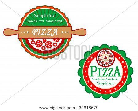 Italian Pizza Symbols And Banners