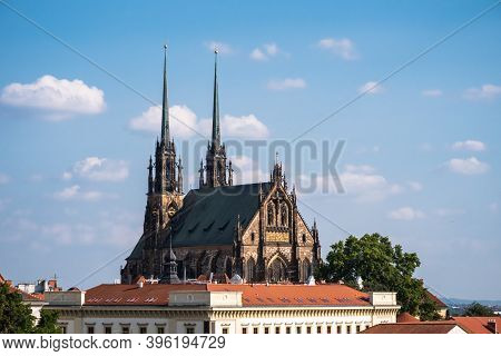 Cathedral Of Saint Peter And Paul Or Katedrala Svateho Petra A Pavla In Brno, Moravia, Czech Republi