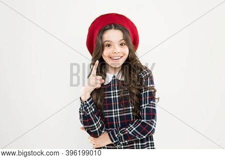 My Fashion Inspiration. Small Girl Stylish Look. Parisian Kid French Beret. How To Wear Checkered Dr