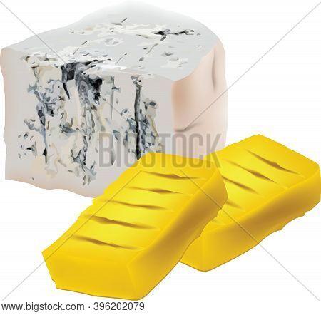 Gorgonzola Cheese Green Cheese With Polenta Gorgonzola Cheese Green Cheese With Polenta