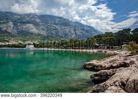 Makarska, Croatia by waterfront in summer