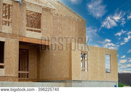 Two Floors Of A Plywood House New Wall Rafter