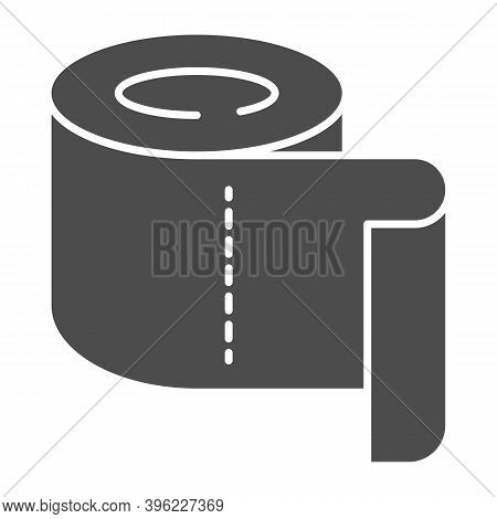 Roll Of Toilet Paper Solid Icon, Hygiene Routine Concept, Roll Paper Towel Sign On White Background,