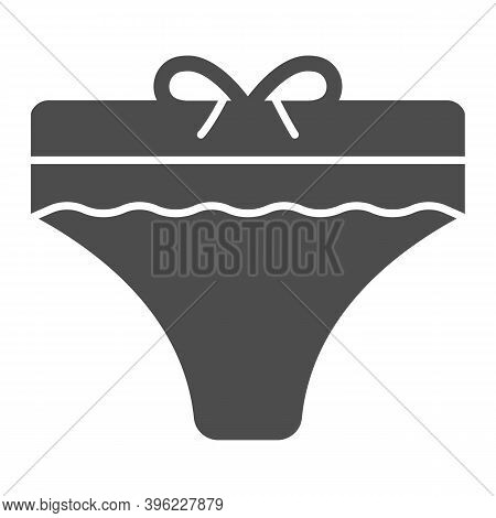 Women Panties Solid Icon, Hygiene Routine Concept, Lingerie Sign On White Background, Pantie Icon In