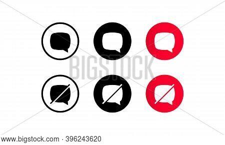 Reject Message Line Icon. Decline Or Remove Chat Sign. Web Design. Vector Illustration. Eps10