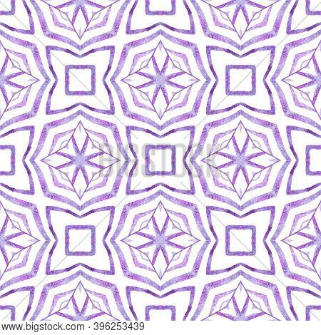 Textile Ready Incredible Print, Swimwear Fabric, Wallpaper, Wrapping.  Purple Pretty Boho Chic Summe