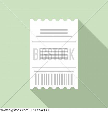 Duty Free Pay Check Icon. Flat Illustration Of Duty Free Pay Check Vector Icon For Web Design
