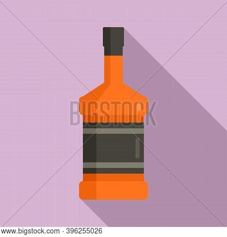 Duty Free Whisky Bottle Icon. Flat Illustration Of Duty Free Whisky Bottle Vector Icon For Web Desig