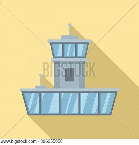 Airport Duty Free Shop Icon. Flat Illustration Of Airport Duty Free Shop Vector Icon For Web Design