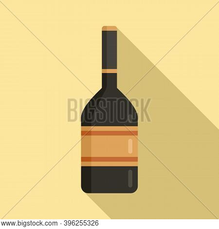 Duty Free Alcohol Icon. Flat Illustration Of Duty Free Alcohol Vector Icon For Web Design