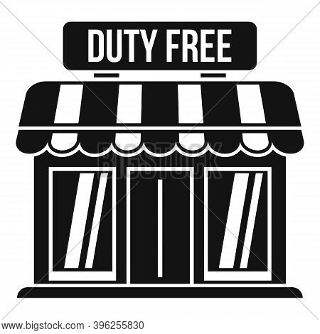 Duty Free Shop Icon. Simple Illustration Of Duty Free Shop Vector Icon For Web Design Isolated On Wh