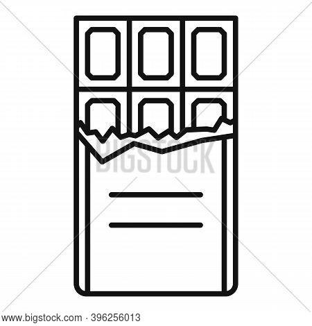 Duty Free Shop Chocolate Bar Icon. Outline Duty Free Shop Chocolate Bar Vector Icon For Web Design I