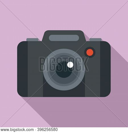 Photo Camera Record Icon. Flat Illustration Of Photo Camera Record Vector Icon For Web Design