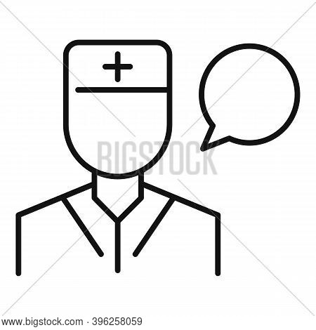 Doctor Speech Therapist Icon. Outline Doctor Speech Therapist Vector Icon For Web Design Isolated On